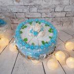Tort papierowy niebieski -
