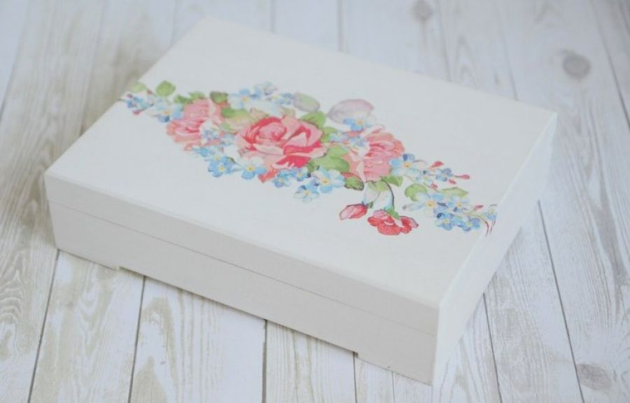 Pudełko na obrączki RUSTIC FLOWERS