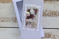 Kartka na ślub z pudełkiem - zestaw 5