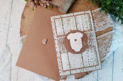 Kartka rustykalna na Chrzest Święty