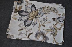 Podkładka pod talerz - beżowe kwiaty
