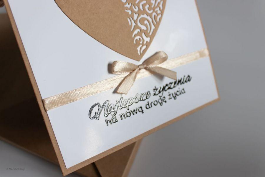 Kartka ślubna Najlepsze życzenia ślub - Napis