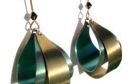 Kolczyki Due Colori-Verde