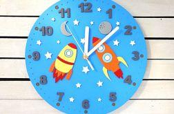 Zegar ścienny do pokoju dziecięcego kosmos