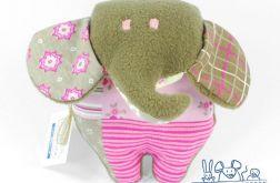 Mini słoń brązowo-różowy