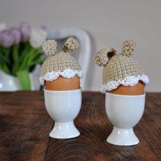 Szydełkowe ocieplaczezajączki na jajka 2szt
