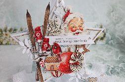 Kartka -zawieszka na Boże Narodzenie 6 GOTOWA