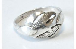 57 pierścionek vintage, srebrny, oryginalny,