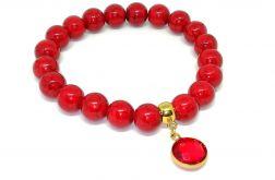 DEEP RED - bransoletka z minerałów