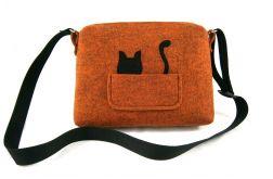Orange melange & black cat