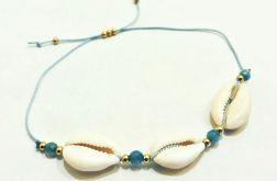 Bransoletka sznurek i Muszelki Kauri - model5