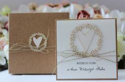 Rustykalna kartka ślubna z personalizacją 1