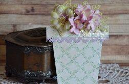 doniczka zielono-fioletowa, dla Babci