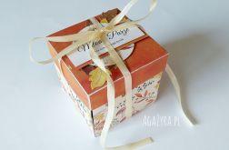 Pudełko exploding box ślub jesień