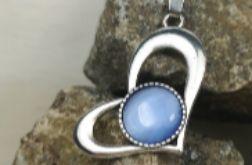 Naszyjnik niebieskie kocie oko