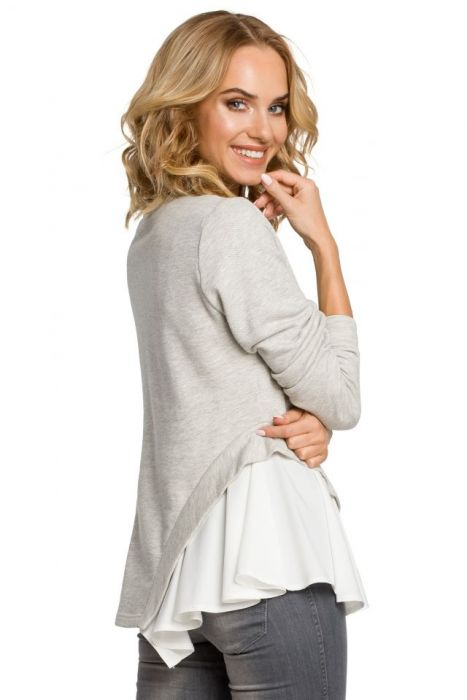 Modna kobieca bluzka z asymetrią