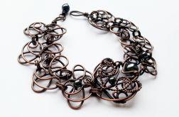 Bransoleta miedź - wire wrapping