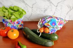 Worek na warzywa, 2 sztuki,CZARNE PASY.