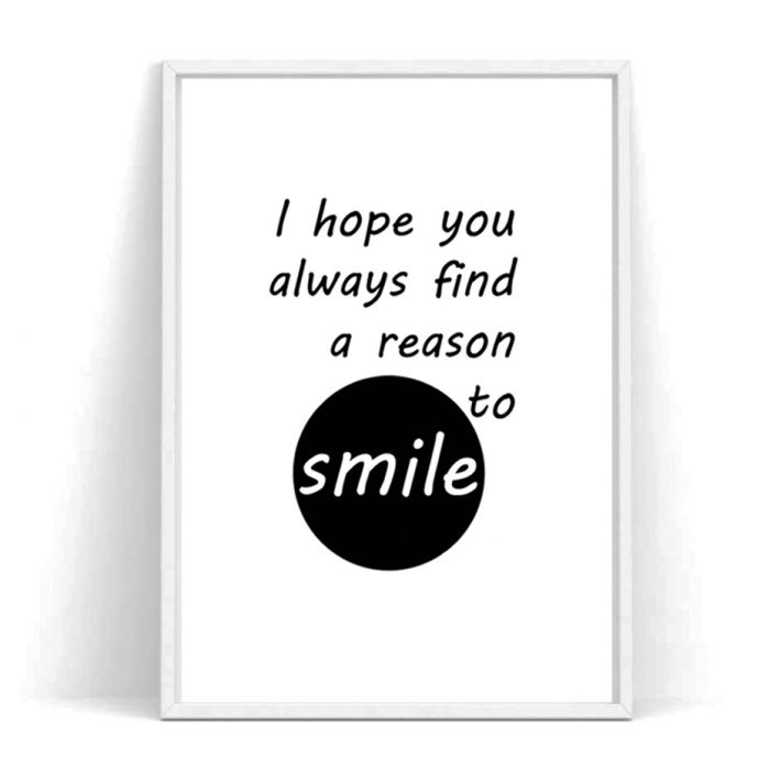 Plakat z hasłem SMILE -