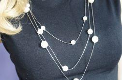 Naszyjnik EXTRA DŁUGI perłowe kulki