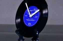 Zegar stojący płyta winylowa winyl retro mini