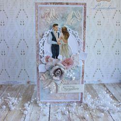 """Kartka ślubna DL """"Wedding Dream """" 2 GOTOWA"""
