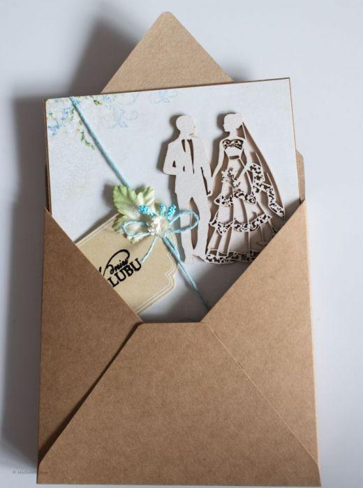 Kartka w dniu ślubu - W kopercie
