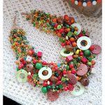 5015 naszyjnik kolia jesienne kolory -