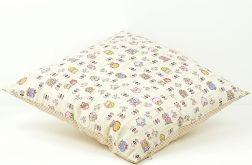 Poszewka na poduszkę - Sowy i kawowe groszki