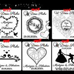 Pamiątka ślubu - kartka personalizowana  - wzory-pierwszej strony