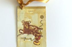 Zodiak Baran-zakładka do książki vintage