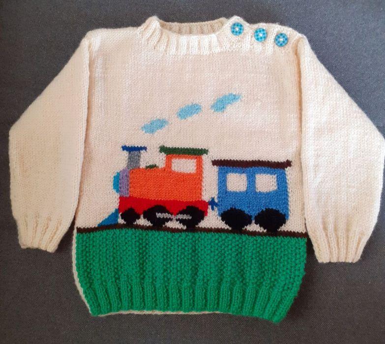 sweterek z pociągiem