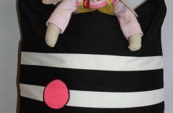 torba worek różowe kółka- na Fundację