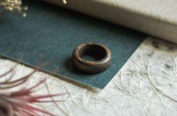 Obrączka z egzotycznego drewna amazaque