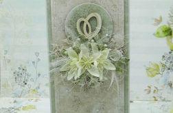Kartka ślubna z obrączkami z pudełkiem