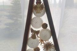 choinka z cotton ball
