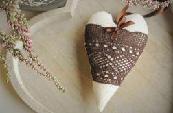 Serce z koronką i wstążeczką