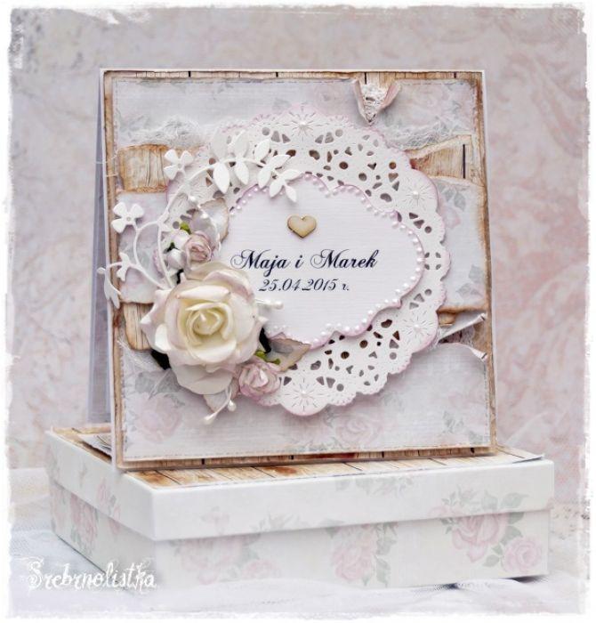 Kartka ślubna w pudełku - na zamówienie