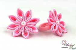Gumki do włosów różowe
