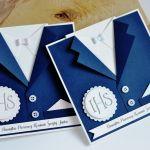 GARNITUREK kartka na komunię dla chłopca - garnitur z hostią