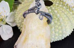 Cytryn Srebrny wisior z bryłką cytrynu