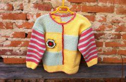 Welniany sweterek dla dziewczynki