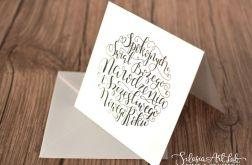 Zestaw 3 kartek - Kaligrafowane życzenia 101