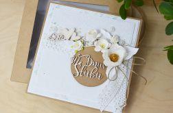 Eco- kartka ślubna z pudełkiem
