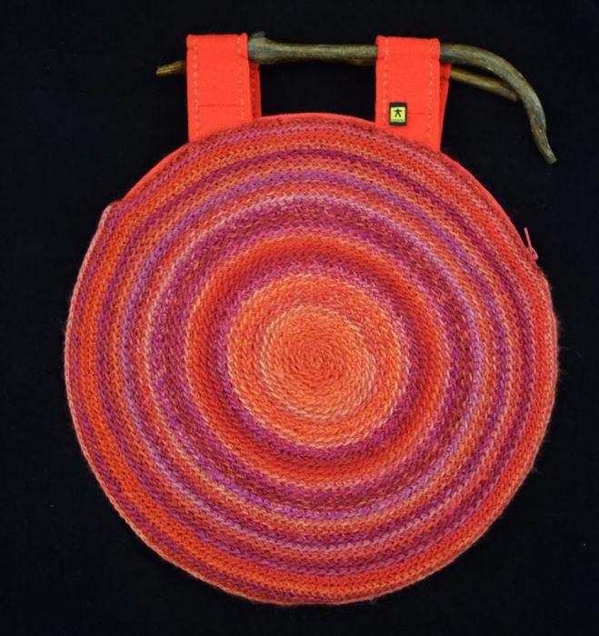 torebka unikatowa w czerwieniach
