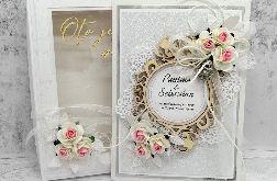 Przepiękna kartka na ślub w pudełku SLB 099