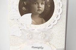 Pamiątka I Komunii Św. ze zdjęciem dziewczynki