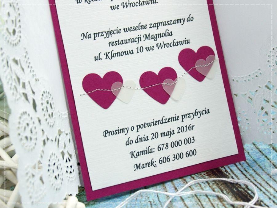 Zaproszenia ślubne -Perfect Love- hearts