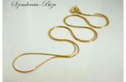 Pozłacany Srebrny Łańcuszek Cardano 50cm