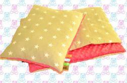 MINKY koc dziecięcy + poduszka gwiazdki